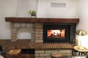 cheminée insert à bois classique